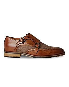 Joe Browns Tweed Mix Monk Shoe Wide Fit