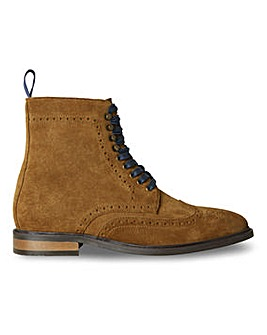 Joe Browns Suede Brogue Boot Wide Fit