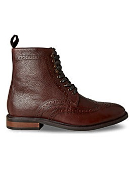 Joe Browns Leather Brogue Boot Wide Fit