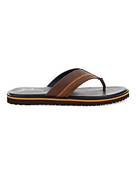 Joe Browns Leather Toe Post Sandal Wide Fit