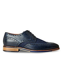 Joe Browns Tweed Mix Leather Shoe Wide