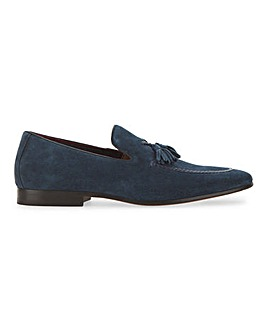 Dune Spirited Suede Tassel Loafer