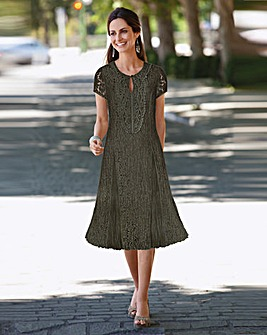 Together Applique Trim Lace Dress