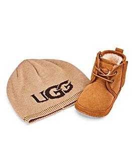 Ugg Baby Nuemel and Beanie Gift Set