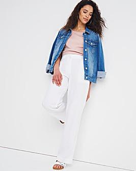 Joanna Hope Long Linen Trousers - 31in