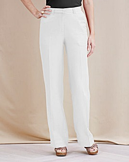 Joanna Hope Linen-Blend Trousers 33in