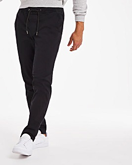 Black Pima Cotton Trousers 31""