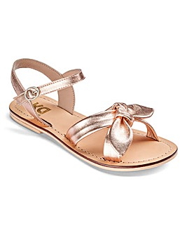 TKD Girls Leather Tie Front Sandals