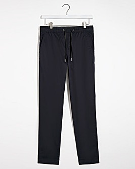 Navy Pima Cotton Trousers 31""