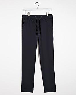 Navy Pima Cotton Drawstring Trousers 31 Inch Inside Leg
