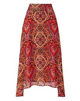 JOANNA HOPE Print Hanky Hem Skirt