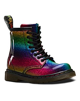 Dr Martens Glitter Lace Boots Infants