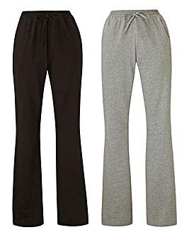 Petite 2PK Jersey Bootcut Trousers