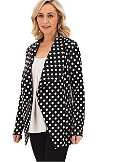 Polka Dot Jersey Waterfall Jacket