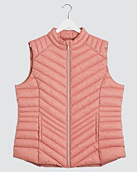 Dusty Pink Lightweight Padded Gilet