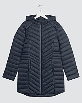 Navy Lightweight Mid Padded Jacket