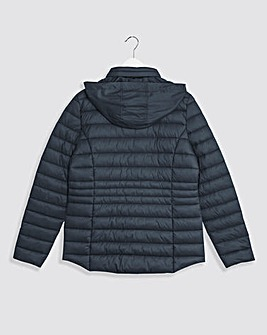 Navy Lightweight Short Padded Jacket