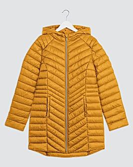 Ochre Lightweight Padded Mid Length Jacket