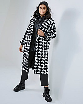 Dogtooth Check Relaxed Coat