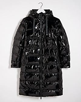 High Shine Longline Padded Coat
