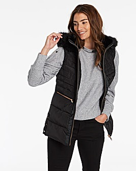 Black Luxe Padded Gilet