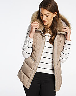 Mink Luxe Padded Gilet