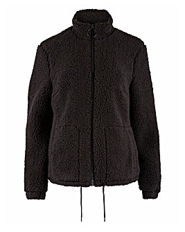 Black Teddy Fleece Jacket
