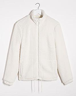 Cream Supersoft Teddy Fleece Jacket
