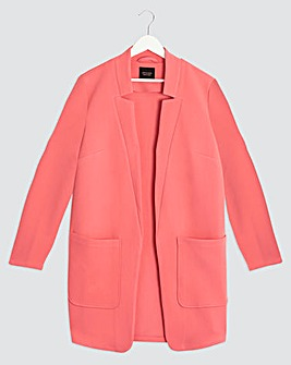 Peach Chuck On Crepe Jacket