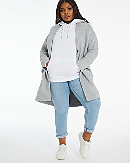 Grey Marl Single Breasted Coat