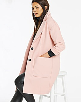 Light Pink Single Breasted Coat