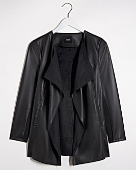 Longline PU Waterfall Jacket