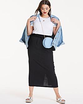 Slouch Linen Rich Maxi Skirt