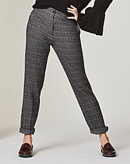 Tapered Check Trousers Reg