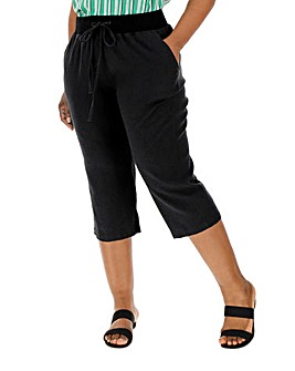Slouch Linen Rich Crop Trousers