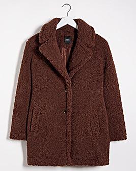 Brown Faux Fur Teddy Coat