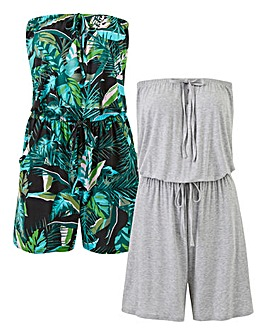 Pack of Two Playsuit