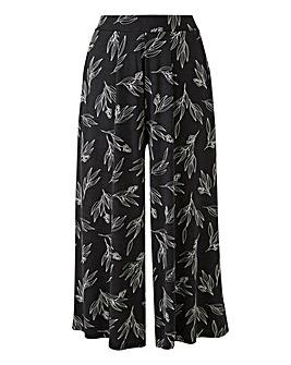 Print Stretch Jersey Culottes