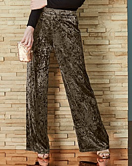 Crushed Velour Wide Leg Trousers Reg
