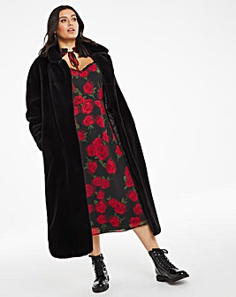Black Long Faux Fur Coat