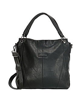 Enrico Benetti Caen 2 Handle Faux Leather Handbag