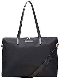 Smith & Canova Large Nylon Zip Top Tote Bag