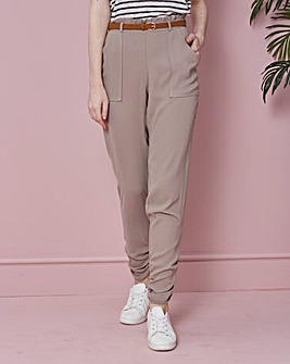 Paperbag Waist Ruched Leg Trousers