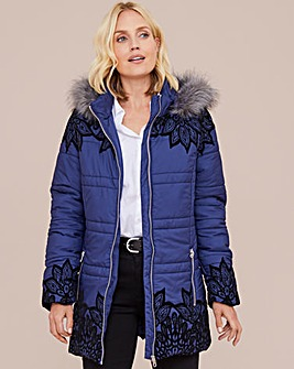Julipa Flock Parka With Hood