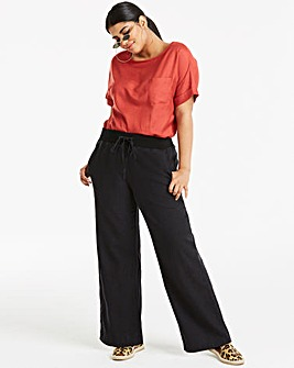 Slouch Linen Rich Wide Leg Trousers