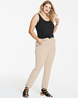 Turn Up Comfort Stretch Chino Trousers