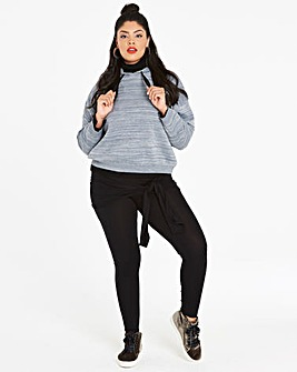 Tie Wrap Stretch Jersey Leggings