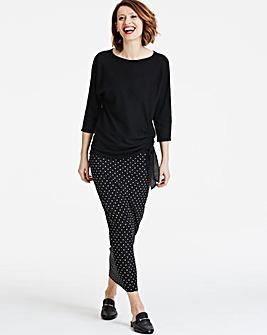 Spot Tube Jersey Maxi Skirt