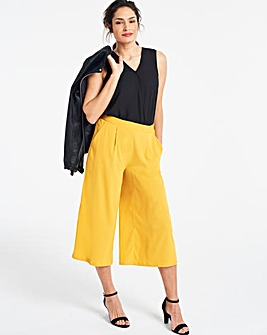 Crepe Wide Leg Culottes
