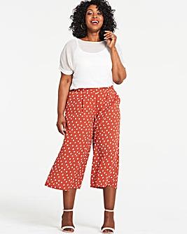 Spot Crepe Wide Leg Culottes